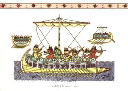 NAVI - ASSIRIA (4000 A.C.) - ILLUSTRATORI NICOULINE LAVARELLO - Illustratori & Fotografie