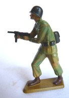 SOLDAT FIGURINE FIG STARLUX 1966 PARA CASQUE Chargeant Mitraillette Devant P17  ARMEE MODERNE (2) - Starlux