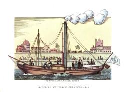NAVI - BATTELLO FLUVIALE FRANCESE (1816) - ILLUSTRATORI NICOULINE LAVARELLO - Altre Illustrazioni