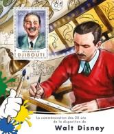 DJIBOUTI 2016 - Walt Disney S/S. Official Issue - Disney