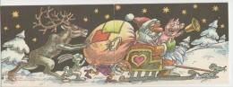 GOOD USSR / ESTONIA Postcard 1987 - Santa Claus & Gnome ; Animals - Kerstman