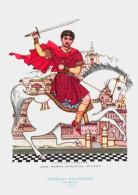 CAVALIERI D´OGNI TERRA - IMPERO BIZANTINO - GUERRIERO (550) - ILLUSTRATORE VSEVOLODE NICOULINE - Altre Illustrazioni