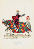 CAVALIERI D´OGNI TERRA - INGHILTERRA - CAVALIERE COMBATTENTE (1390) - ILLUSTRATORE NICOULINE - Illustratori & Fotografie