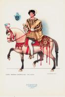 CAVALIERI D´OGNI TERRA - FRANCIA - CORTIGIANO (1541) - ILLUSTRATORE NICOULINE - Altre Illustrazioni