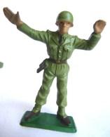 SOLDAT FIGURINE FIG STARLUX 1959 Telemetre TELEMETREUR SEUL 5011 Socle Vert Vif - Starlux