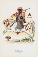 CAVALIERI D´OGNI TERRA - ETIOPIA - GUERRIERO ABISSINO (1890) - ILLUSTRATORE VSEVOLODE NICOULINE - Altre Illustrazioni