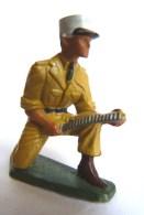 SOLDAT FIGURINE FIG STARLUX 1958 SOLDAT LEGIONNAIRE SERVANT MITRAILLEUR 5085 Socle Vert Kaki Casse (1) - Starlux