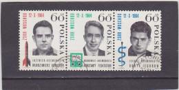 POLOGNE     Y. T.  N° 1386   1387   1388   Oblitéré - 1944-.... República