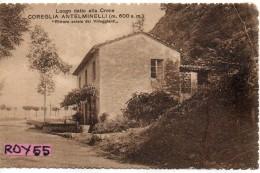 Toscana-lucca-coreglia Antelminelli Alla Croce Ritrovo Serale Villeggianti Primi 900 - Italia