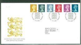 FDC SCOTLAND - SCOZIA - ROYAL MAIL- ANNO 2000 - NEW DEFINITIVE STAMPS - EDINBURGH - EDIMBURGO - - FDC