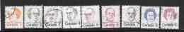 CANADA, 1973, USED #586-93A, CARICATURES  USED - 1952-.... Règne D'Elizabeth II