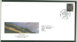 FDC SCOTLAND - SCOZIA -  ROYAL MAIL- ANNO 2000 - EDINBURGH - EDIMBURGO - THE PEOPLE OF THE COUNTRY, THE STRENGTH - - FDC