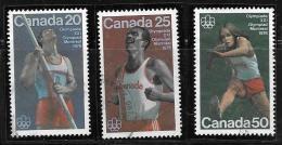 CANADA, 1975, USED #664-6, TRACK & FIELD SPORTS USED - 1952-.... Règne D'Elizabeth II