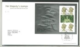 FDC GRAN BRETAGNA - GREAT BRITAIN -  ROYAL MAIL- ANNO 2000  - HER MAJESTY'S STAMPS - MINIFOGLIO - LONDON SW1 - - FDC