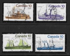 CANADA, 1976, USED #700-3,  INLAND VESSELS USED - 1952-.... Règne D'Elizabeth II