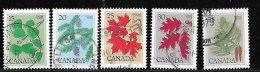 CANADA, 1977, USED #717-21 TREES  USED - 1952-.... Règne D'Elizabeth II