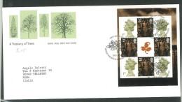 FDC GRAN BRETAGNA - GREAT BRITAIN -  ROYAL MAIL- ANNO 2000  -  A TREASURY OF TREES - EDINBURGH - SCOTLAND - SCOZIA - EDI - FDC