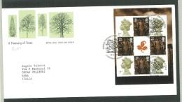 FDC GRAN BRETAGNA - GREAT BRITAIN -  ROYAL MAIL- ANNO 2000  -  A TREASURY OF TREES - CYNTAF - - FDC