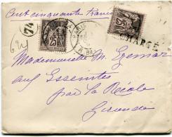FRANCE LETTRE CHARGEE AFFRANCHIE AVEC DEUX N°97 DEPART PARIS 7 OCT 97 R. BAYEN POUR LA FRANCE - Marcophilie (Lettres)