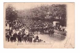 Vincennes Depart Des Troupes Pour La  Revue Du 14 Juillet Cavalier Cavalerie - Uniformes