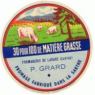 ETIQUETTE FROMAGELE FROMAGERIE DE LAVARE P GRARD - Fromage
