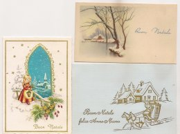 Ldiv.081 - Buon Natale - Joyeux Noël - Lot De 3 Mini Cartes - Christmas