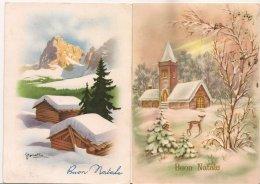 Ldiv.088.089 - Buon Natale - Joyeux Noël  - Lot De Deux  Cartes - Christmas