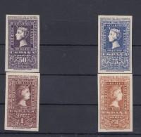 0325 EDIFIL Nº 1075/76 Y 1079/80 SERIE CORTA NUEVO SIN CHARNELA - 1931-50 Nuevos & Fijasellos