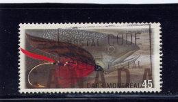 CANADA, 1998,  USED # 1717,  FISHING FLIES: DARK MONTREAL    USED - 1952-.... Règne D'Elizabeth II