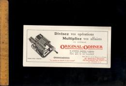 Buvard Machine à Calculer ORIGINAL ODHNER Swedish Calculating Sweden Calculatrice Mécanique - Blotters