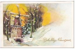 Gelukkig Nieuwjaar Happy New Year Bonne Annee Windmolen Windmill Moulin A Vent - New Year
