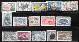 CANADA    CLEARANCE Of USED STAMPS  SEE THE SCAN - Timbres