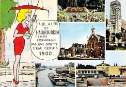 59 - HAUBOURDIN :  Multivues Humoristique : ALLO ... A L'EAU ... CPSM CPM GF - Nord - Haubourdin