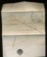 1833  TONNERRE  Où Il Est Question De Bouteilles De Vin - Marcophilie (Lettres)