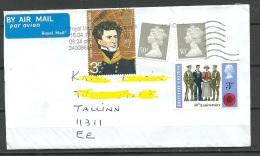 Great Britain 2016 Cover To Estonia Queen Elizabeth 50 P X 2 Etc - 1952-.... (Elizabeth II)