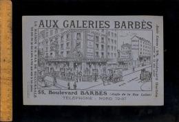 Catalogue Tarif AUX GALERIES BARBES Maison Jules GROS Boulevard Barbès Rue Labat Meubles Mobilier Ameublement Montmartre - 1900 – 1949