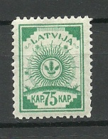 LETTLAND Latvia Lettonia 1921 Michel 50 MNH - Letonia