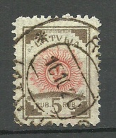 LETTLAND Latvia 1919 Michel 30 O Ribbed Paper - Letonia
