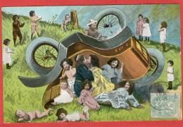 Bébés En Voiture Accident - 1905 - - Dessins D'enfants