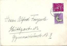 Ausland Brief  Steffisburg - Stuttgart  (Mischfrankatur)          1952 - Schweiz