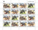 NIGER 2015 - WWF Striped Hyena M/S 4 Sets. Official Issue - W.W.F.