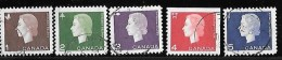 CANADA, 1962   CLEARANCE Of USED STAMPS  #401-5  Cameo  USED - 1952-.... Règne D'Elizabeth II