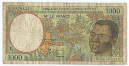 Billet Etats De L'afrique Centrale (Central African States)1000 Francs - República Centroafricana