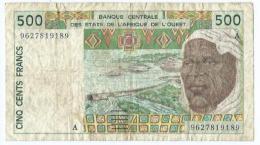 Billet Etats De L'afrique De L'ouest 500 Francs - Centrafricaine (République)