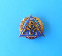 POLAND WRESTLING FEDERATION - Vintage Large Enamel Pin Badge UWW Lutte Lotta Lucha Ringen Luta Anstecknadel Distintivo - Wrestling