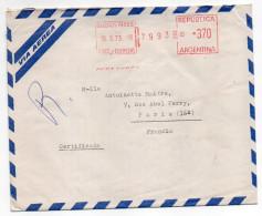 ARGENTINE--1973-Lettre Recommandée EXPRES-BUENOS-AIRES Pour PARIS-France-Machine à Affranchir+cachets - Argentine