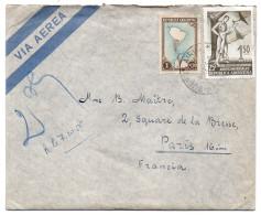 ARGENTINE-1955--Lettre De BUENOS-AIRES Pour PARIS-France--timbres +cachet --KAHAN José - Argentine