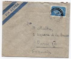 ARGENTINE-1956--Lettre De BUENOS-AIRES Pour PARIS-France--timbre Seul Sur Lettre+cachet --KAHAN José - Argentine