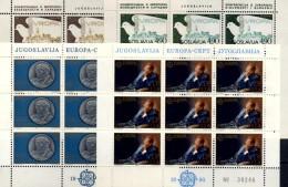 Tito Persönlichkeit Europa 1980 Jugoslawien 1828/9+1857/8 KB ** 32€ Gemälde Münze KSZE History CEPT Sheet Bf JUGOSLAVIJA - Neufs