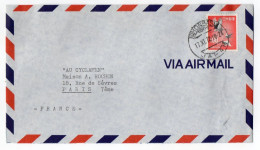 JAPON--1972--Lettre De TOKYO  Pour PARIS--France--timbre Seul Sur Lettre +cachet - - 1926-89 Empereur Hirohito (Ere Showa)